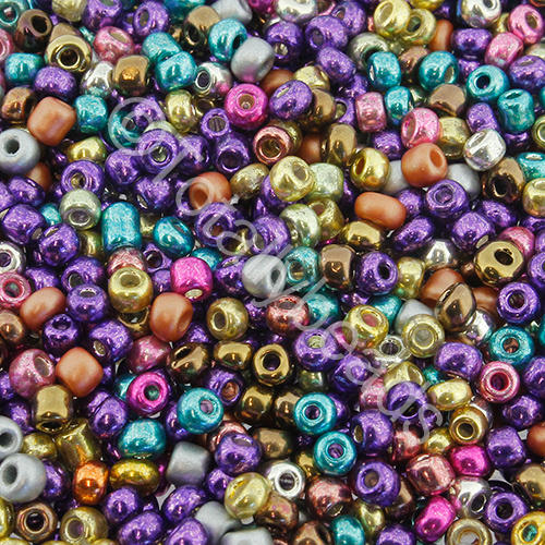 Seed Beads Metallic  Mixed - Size 8