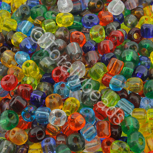 Seed Beads Transparent  Mixed - Size 6