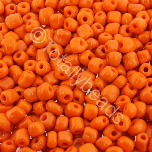 Seed Beads Opaque  Orange - Size 6