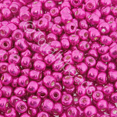 Seed Beads Metallic  Bright Pink - Size 6