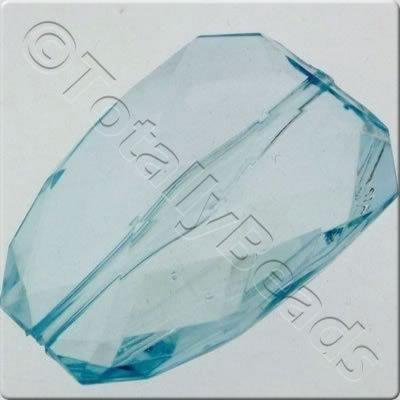 Acrylic Facet Rectangle 40mm - Aqua