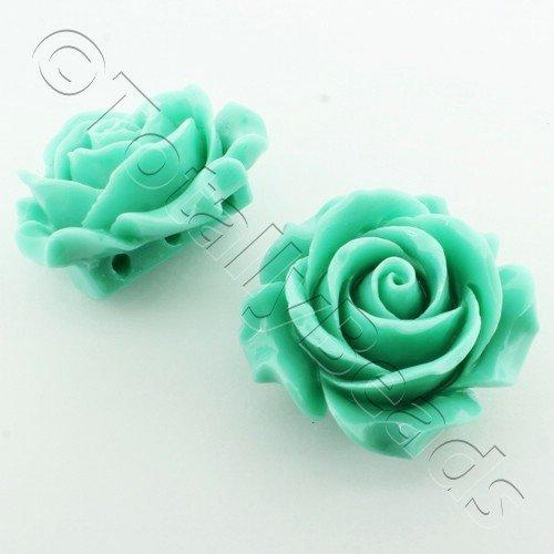 Acrylic Rose 35mm 3 Rows - Light Green