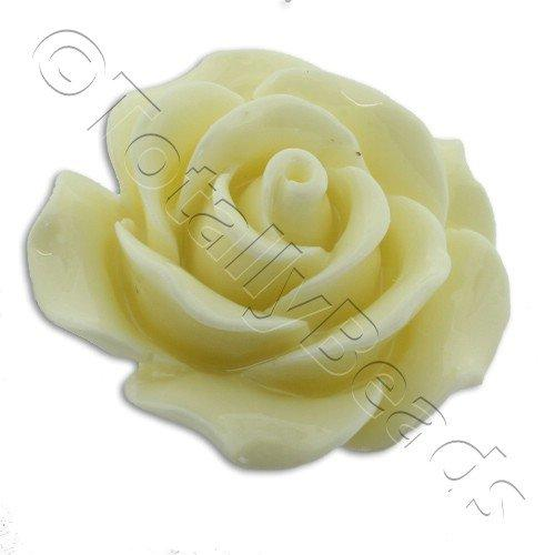 Acrylic Rose 25mm 1 Row - Cream
