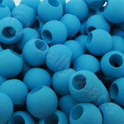 Acrylic Beads 10x8mm - Blue