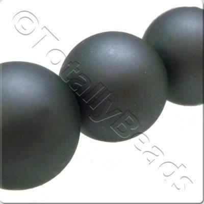 Acrylic Pearl - 12mm Round - Pastel Dark Grey