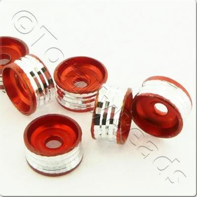Aluminium Spacer Disc 8mm - Red