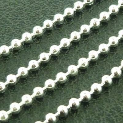 Ball Chain 1.5mm - Silver Plate - 1m