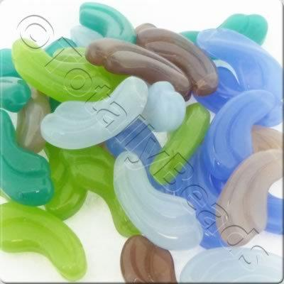 Bead Mix - 23x10mm Fluted Drop Mix - 50g