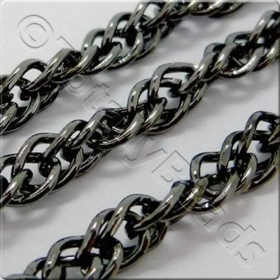 Chain - Black Plated - Twisted Curb