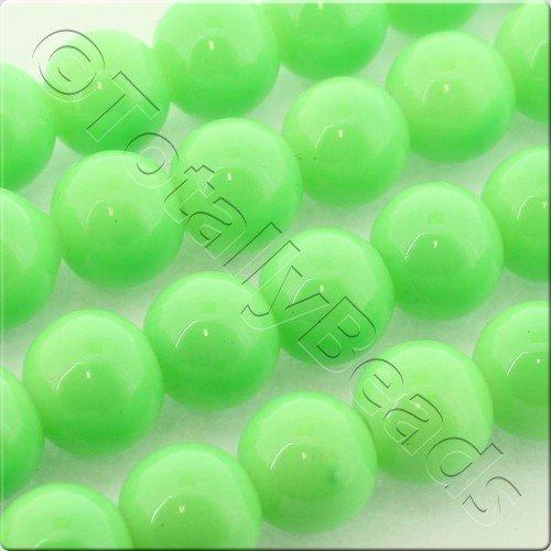 Glass Bead Round 8mm - Neon Green