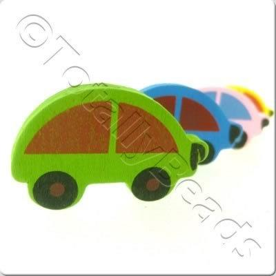Childrens Wooden Bead - Cars
