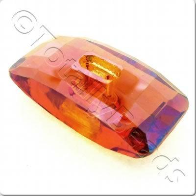 Crystal Button - Rectangle 30mm - Auburn
