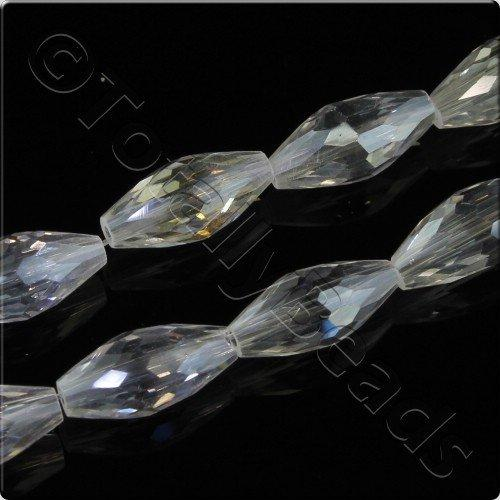 Crystal Rice Bead 6x12mm - Crystal AB