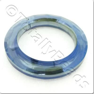 Crystal Pendant - Ring 51mm - Grey with Blue Shadow