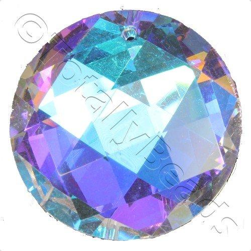 Crystal Pendant - Disc 30mm - Square Cut AB B