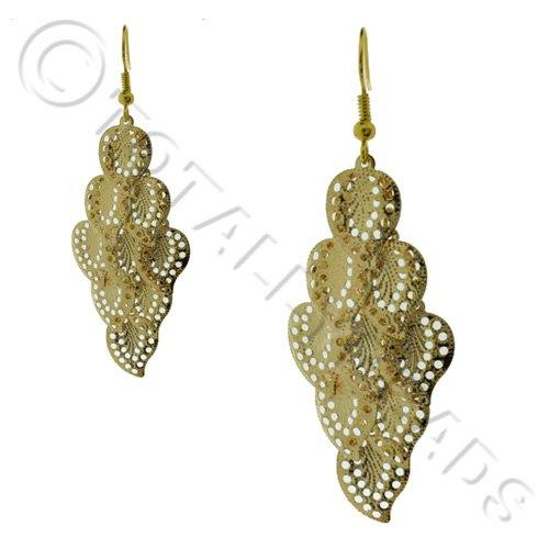 Cascade Earring Kit - Gold Filigree Leaf