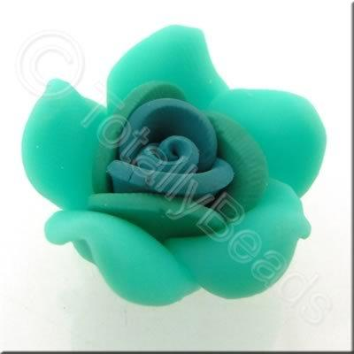 Fimo Flower Bead 28mm - Green