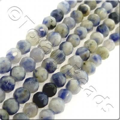 Light Sodalite 3mm Facet Round