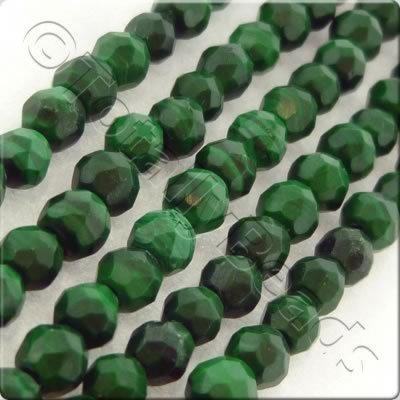 Malachite 3mm Facet Round