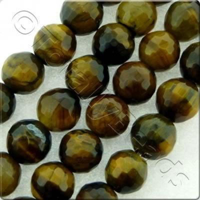 Tiger Eye Facet Round Beads - 4mm