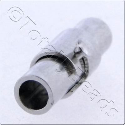 Magnetic Locking Tube Clasp 15x4mm Rhodium 2pc