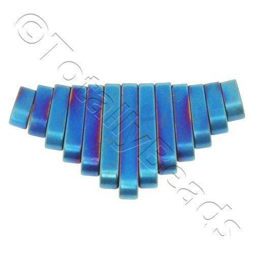 Hematite Egyptian Collar 13pc Matt Blue Plated