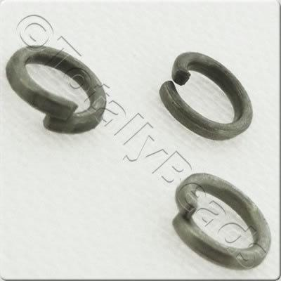 Jump Rings 4x1mm - Dull Silver Plated