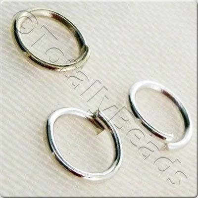Jump Rings 6mm - Silver Plated