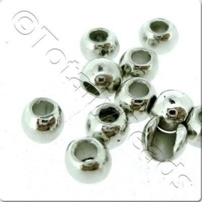 Acrylic Antique Silver Bead - Round 4mm