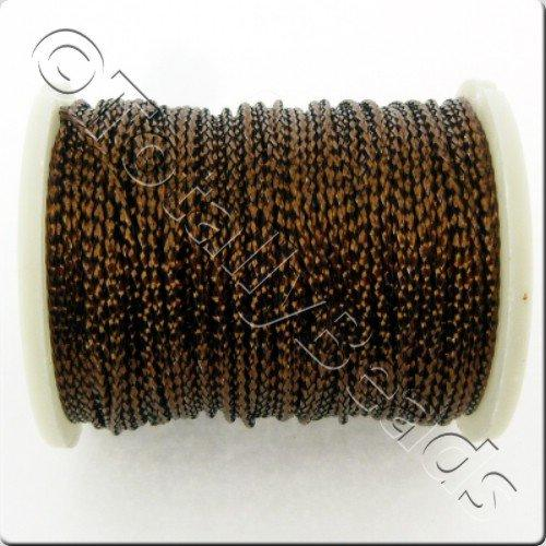 Metallic Thread Brown - 0.7mm - 10m Spool