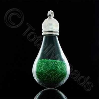 Mystical Droplet Pendant - Green