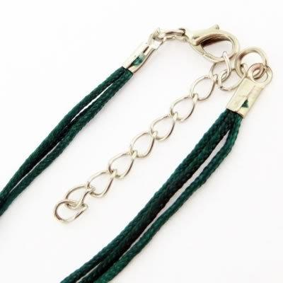 Nylon Necklace Cord - Forest Green