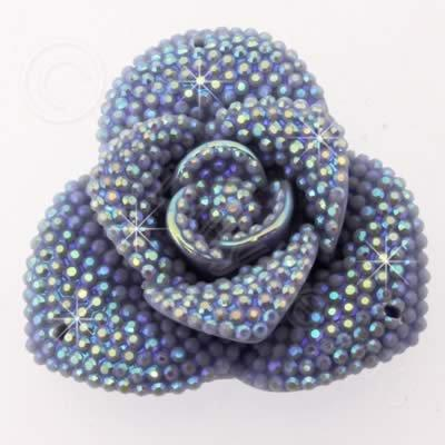 Resin Sparkle 3 Point Flower 40mm - Lilac