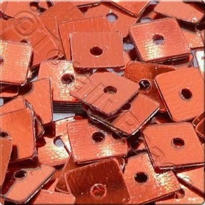 Sequins - 4mm Square - Metallic Red