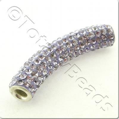 Shamballa Spacer Tube 40-50mm - Violet