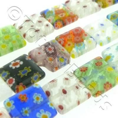 Millefiori - Flat Square 10mm - Mixed