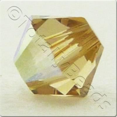 Swarovski 4mm Xilion Bicone - Light Colorado Topaz AB