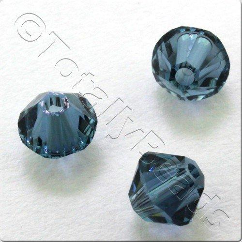 Swarovski 4mm Xilion Bicone - Denim Blue 24pk