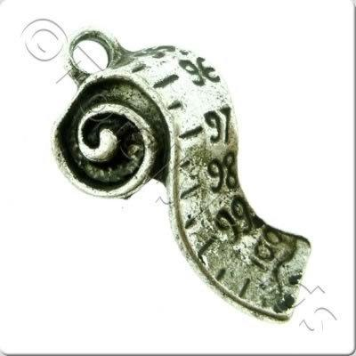 Tibetan Silver Charm - Measuring Tape