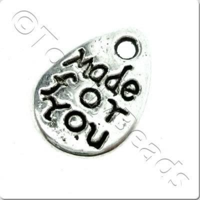 Tibetan Silver Charm - Made For You Tag