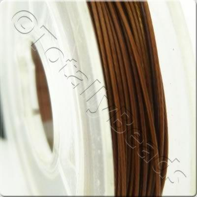 Tigertail Wire 0.45mm - Metallic Brown - 10m