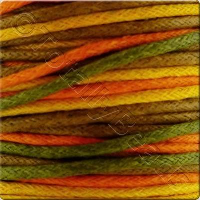 Wax Cotton Cord (1.5mm) Mix - 4x2 metres - Autumn