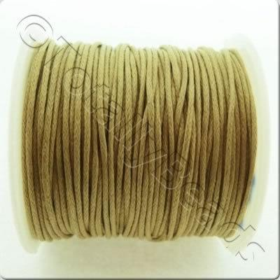 Wax Cotton Cord 1mm - Coffee