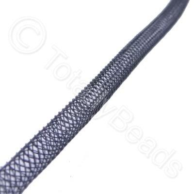Nylon Mesh Tubing - 4mm Black - 4m pack