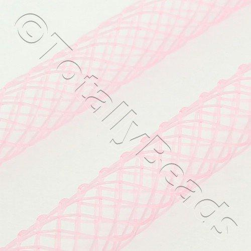 Nylon Mesh Tubing 4mm Pink - 4m pack