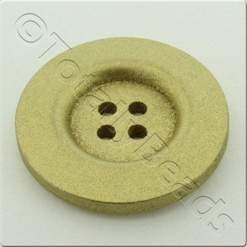 Wooden Button 30mm - Gold