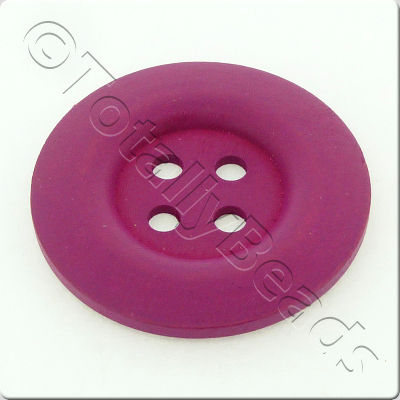 Wooden Button 50mm - Hot Pink