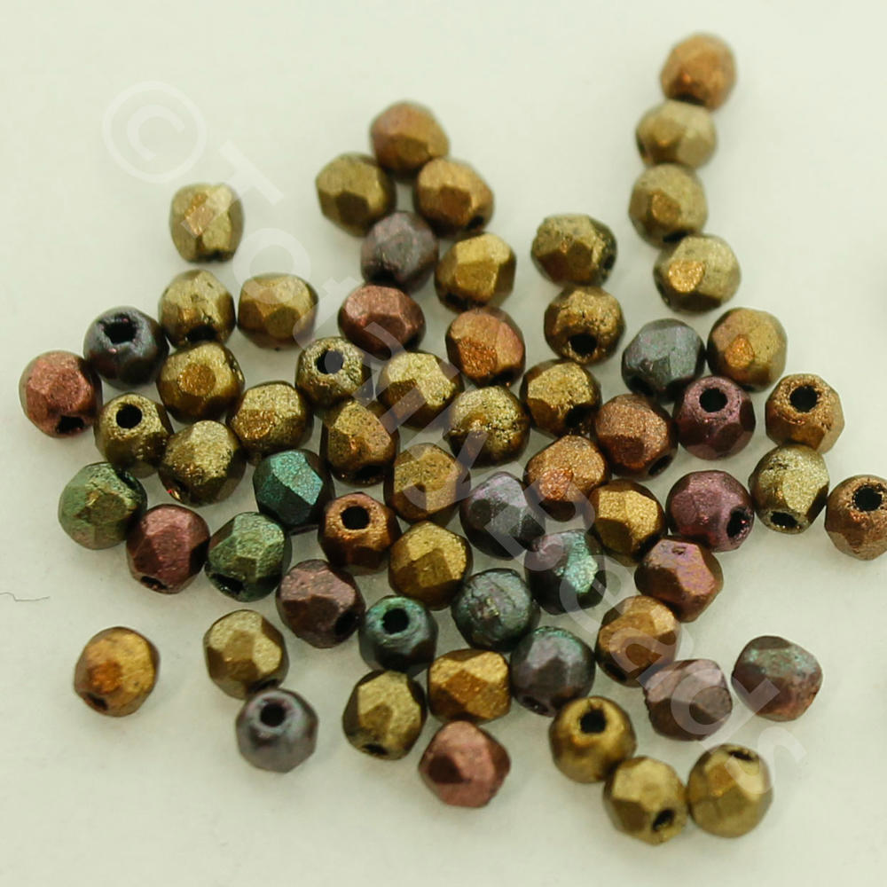Firepolished 2mm 100pcs
