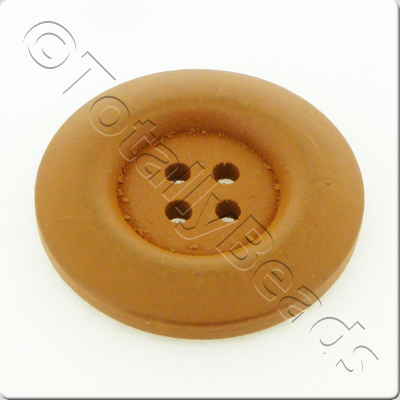 Wooden Button 30mm - Coffee