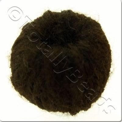 Wool Bead 22mm - Chocolate Brown